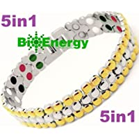 Titanium Magnetic Energy Germanium Armband Power Bracelet Health Bio 5in1 Bio 257