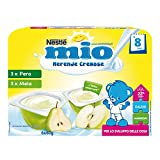 Nestlé Mio Merenda Cremosa Mela e Pera da 8 Mesi 6 Vasetti Plastica,...