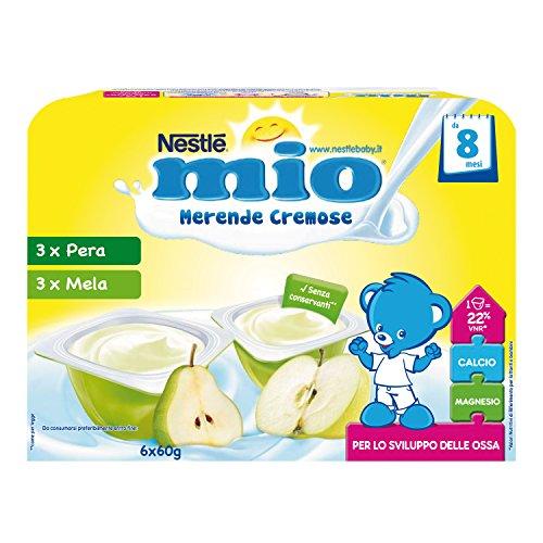 Nestlé Mio Merenda Cremosa Mela e Pera da 8 Mesi 6 Vasetti Plastica 60 g 8 Confezioni