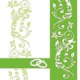 Sovie HORECA Serviette Hochzeit | Linclass® Airlaid 40x40 cm | Ehe Hochzeitsfeier Hochzeit | 50 Stück Grün