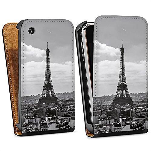 Apple iPhone 5s Housse étui coque protection Paris France Tour Eiffel Sac Downflip noir