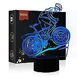 HeXie Weihnachtsgeschenk Magie Flying Bike Lampe 3D Illusion 7 Farben