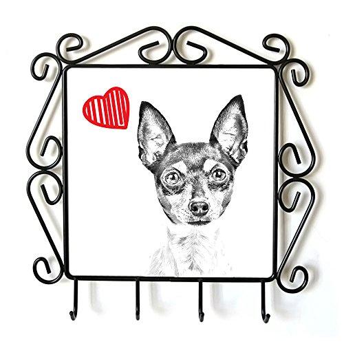 ArtDog Ltd. Toy Fox Terrier, Kleiderbügel mit Einem Bild von Einem Hund und Herz -
