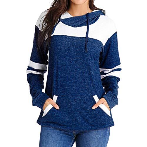ZJSWCP Sweat-Shirt 2019 Casual Femmes d'hiver Color Block Patchwork À Manches Longues Hoodies pour Femmes Sweatshirt avec des Poches Riverdale Sudadera Mujer 5,XL