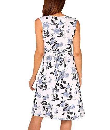 KRISP® Damen Kleid mit Geknotetem Dekolleté Grau (6252)