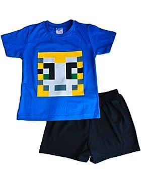 ThePyjamaFactory Jungen Schlafanzug blau blau Medium