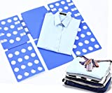 KINGWELL Faltbrett für Wäsche Kleidung T Shirt Pullover Hosen Hemden Kinder Falten Zusammenlegen Wäschefalter Wäschefaltbrett Hemdenfalter Wäsche Faltbrett Falthilfe Schnell Flip Fold Kunststoff