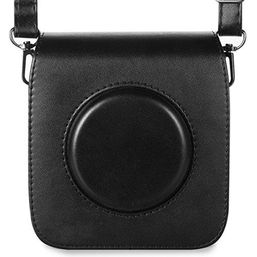 Galleria fotografica Woodmin Retro Borsa for Fujifilm Instax SQUARE SQ 10 Instant Camera (Nero)