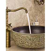 Grifos lavabo laton envejecido for Grifo lavabo vintage