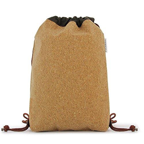 Mochila bolso marrón corcho
