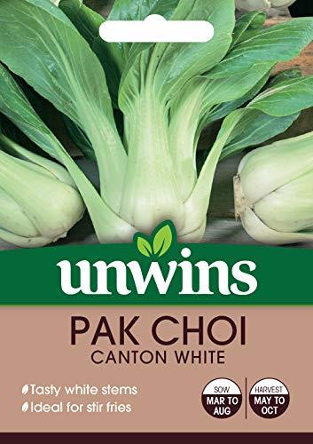 Unwins 30310625 Pak Choi Canton White Seeds Transparent