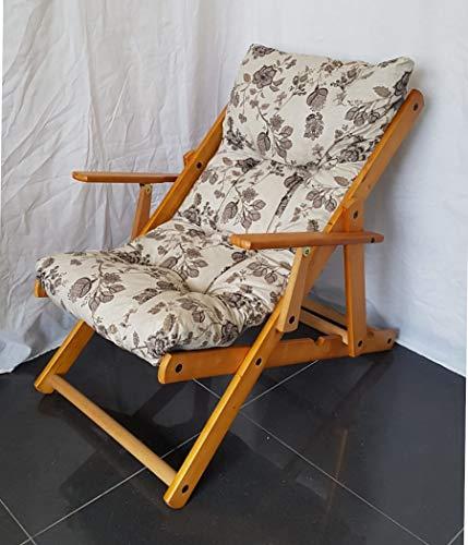 Totò piccinni poltrona sedia sdraio harmony relax in legno pieghevole 3 posizioni