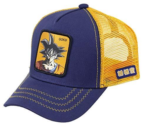 Capslab Trucker Cap Dragon Ball Z Goku Navy & Orange-Gorras