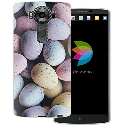 dessana Candy Süßigkeiten Transparente Schutzhülle Handy Case Cover Tasche für LG V10 Oster Eier