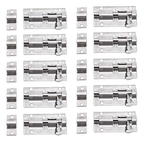 TYI 2PCS Heavy-Duty Ispessito in Acciaio Inox Porta Serratura Scorrevole Blocco barile bullone utile per Porte Casse armadi in Legno wickets finestre recinzioni Kennels Bagno Camera da Letto Bar