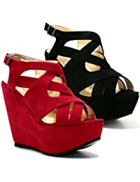 I Love Shoes , Sandales pour femme rouge Red 35.5