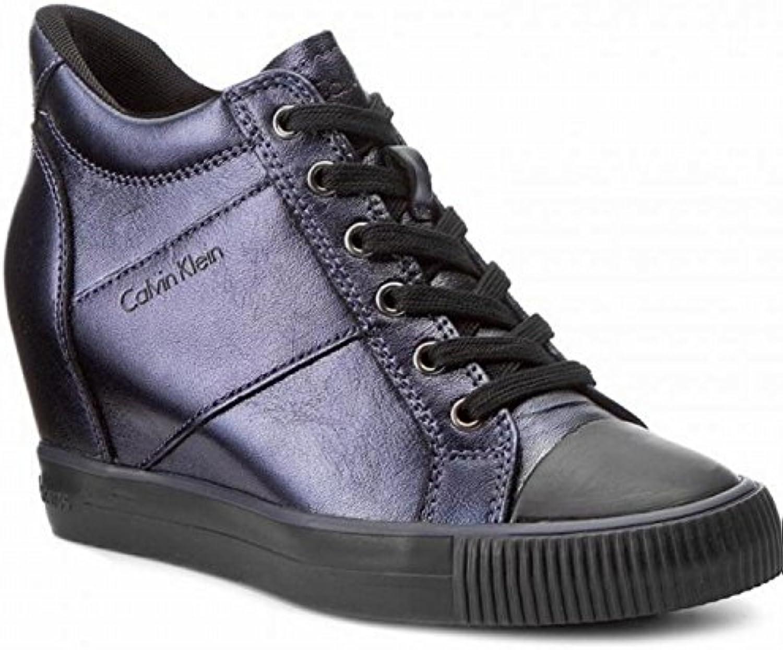 Calvin Klein Zapatillas de Piel Para Mujer