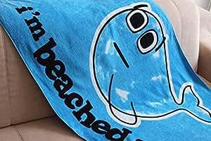 Baleine Bleu couverture 100% coton Serviettes de bain piscine plage serviette de bain serviette de bain