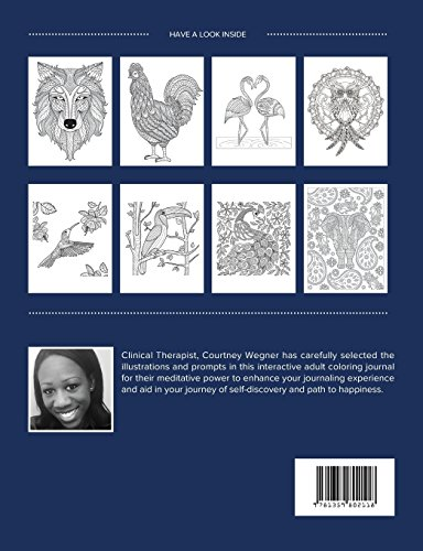 Adult Coloring Journal: Trauma (Animal Illustrations, Blue Orchid)