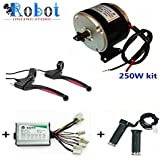 Robot Online Store 24V Motor My1016 250W Motor Controller And Twist Throttle, DIY Electric Bicycle Kit And E Break - Black