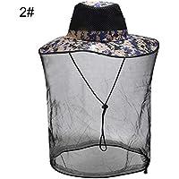 Recoproqfje - Juego de Pesca para Exteriores, Sombrero de Caza para Mosquitos y Insectos, One Color, 5#