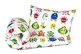 NEU! Kinderzimmer Babybett Bettwäsche Bettbezug und Kissenbezug Set 100 cm x 135 cm 100% Baumwolle Hergestellt in Europa (Monster)