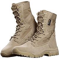 Free Soldado Botas de trabajo tácticas para hombre de 20 cm, botas de trabajo de