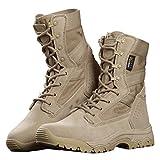 FREE SOLDIER Herren Stiefeletten 20,3cm Zoll Spitze bis Tactical Arbeit Schuhe All Terrain Ultralight atmungsaktiv Desert Boots (Sand Color, 45 EU)