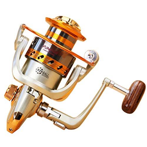 Angelrollen Metall Spinnrollen,Colorful Süßwasser Salzwasser Angelrolle 12BB Kugellager Spinnrolle Links/Rechts Austauschbare Angelrolle (EF2000)