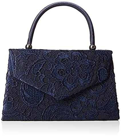 SWANKYSWANS Womens Kendall Lace Smart Elegant Clutch Navy