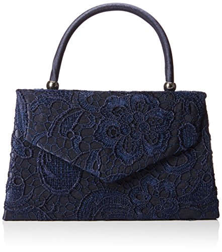 SWANKYSWANS Womens Kendall Lace Smart Elegant Clutch Navy Blue