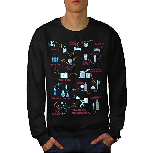 chimie-nerd-la-vie-laboratoire-homme-nouveau-noir-xl-sweat-shirt-wellcoda