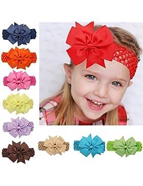 ARAUS Fascia Dei Capelli Bimba di Fiore Elastica Colori Diversi per Neonate Bambine