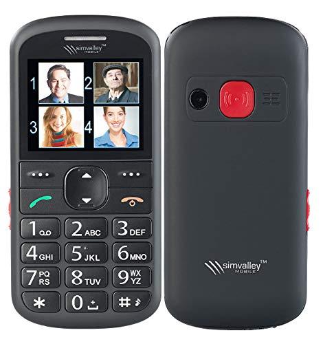simvalley communications Großtasten Handy: Komfort-Handy mit Garantruf Premium, Sprach-Memos, Leselupe, Bluetooth (Handy mit Kamera)