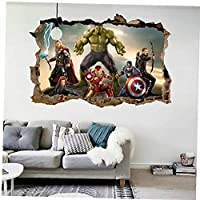 AMOYER 3d Avengers Endgame Wall Stickers Kids Wall Decals for Bedroom Gaming Wall Decal Art Vinyl Wall Decor Sticker