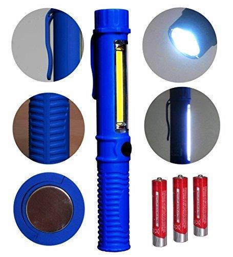 Preisvergleich Produktbild Tragbare LED Arbeitsleuchte Taschenlampe und COB Flutlicht mit Befestigungs-Clip und Magnet.Sehr geeignet für Heim, Auto, Camping, Emergency Kit, Werkstatt und mehr!Plus KOSTENLOS Batterien