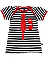 Rockabye-Unisex Baby Tie Dre Short Sleeve Dress (Black/White)