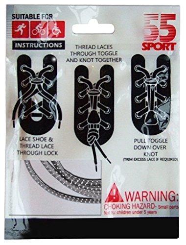 Elastische Schnürsenkel mit Schnellverschluss, für Laufen / Triathlon Grau