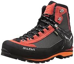 Idea Regalo - SALEWA Crow Gore-Tex, Scarpe da trekking Uomo, Nero/Rosso (Black/papavero), 39 EU