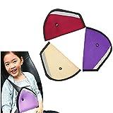 SwirlColor Kids Auto Car Safety Seat Belt Adjuster Toddler Child SeatBelt Adjustment 3 Pcs - Random Color