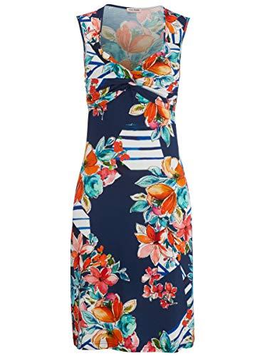 Alba Moda Damen Strandkleid Single Jersey in Knotenoptik 48 -