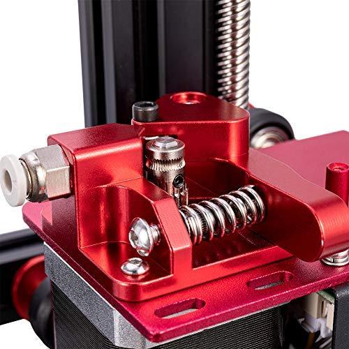 Extrusora de doble engranaje de aluminio Creality original, accesorio de impresora 3D de alimentación de unidad de extrusión mejorada para filamento de 1.75 mm