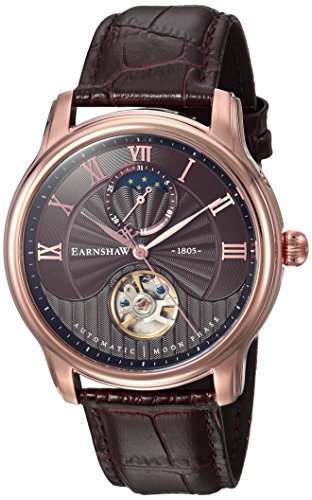 Thomas Earnshaw Mixte Adulte Phase de Lune Automatique Montre avec Bracelet en Cuir ES-8066-04
