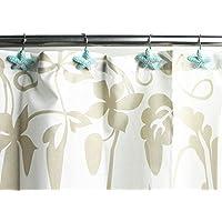 Blu Stella Marina Stella decorativa casa tenda tenda doccia anelli Ganci per Bagno Camera da letto soggiorno tenda, Set di 12 - Natale Tenda Della Doccia