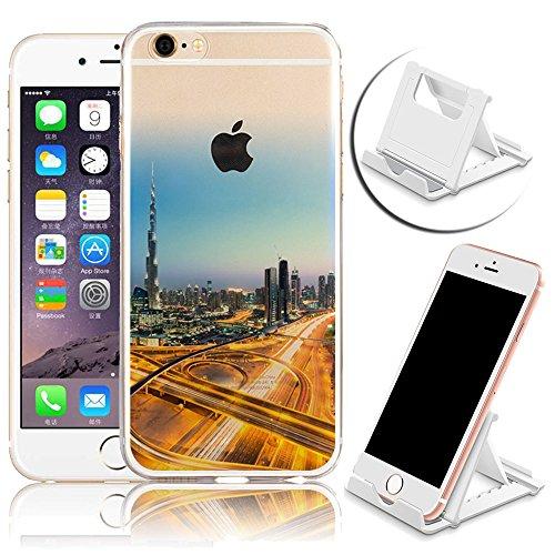 iPhone 6 Hülle, iPhone 6S Hülle, Vandot Crystal Case Schutzhülle für iPhone 6 / 6S 4,7 Zoll Klare Ultradünne TPU Silikon Handyhülle Durchsichtig Diamant Bling Glitzer Transparent Blumen Pflaumenblüte  Color 22