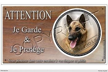 Panneau chien ou plaque Malinois-07 30 cm