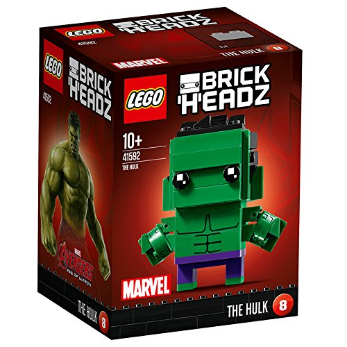 LEGO Brickheadz - The Hulk, Construction Toy, Decorative Figure of the Marvel Universe Avenger (41592)