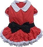 Doggy Dolly ST016 Hundekleid Weihnachtsfrau, rot, Größe : S