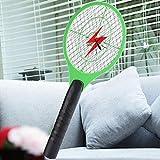 Moonuy Moustique tueur électrique tennis raquette de poche poche insecte mouche Bug Wasp Swatter Mosquito Killer Mouche Électrique Zapper Racket Anti Moustique Idéal pour Maison, Cuisine, Hôtel (au hasard)