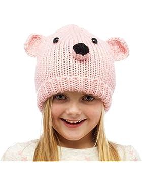 Ragazze Cute calda maglia grosso animale Teddy Bear cappello con le orecchie di età compresa tra 3 e 10 anni